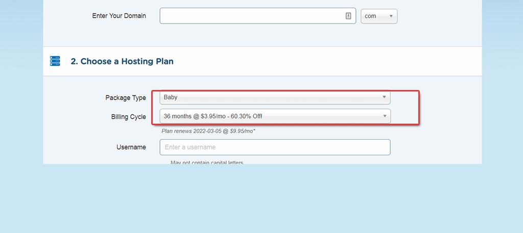 domain hosting plan with hostgator